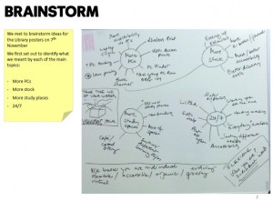 A snapshot of some of our workshop mindmaps